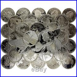 2000-2008 State Quarter 90% Silver Proof Roll Rejects 40 US Coins