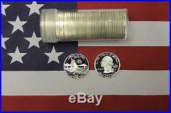 2001-S Silver State Quarter Proof Roll Rhode Island RI 40 quarters 25c