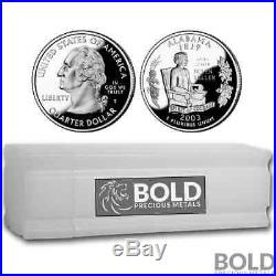 2003-S Silver Proof State Quarter Roll (40 Coins) ALABAMA