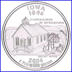 2004-S Iowa Silver Proof Quarter roll 40 GEM coins tube $10 Face Value