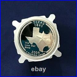 2004-S Texas Statehood Silver Quarter DCAM Proof Roll Of 40 Coins