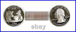 2004-S Wisconsin Silver Proof Statehood Quarters 40 Coin Roll
