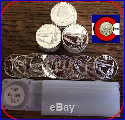 2005-S Silver Proof Oregon Quarters Roll (40 coins) - from proof sets