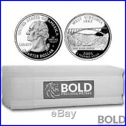2005-S Silver Proof State Quarter Roll (40 Coins) WEST VIRGINIA