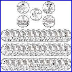 2007 S State Quarter Roll Gem Deep Cameo 90% Silver Proof 40 US Coins