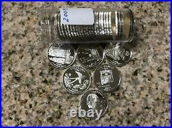 2008 S Silver Quarter Assorted Roll (40) Gem Proof Mirror-like Quarters