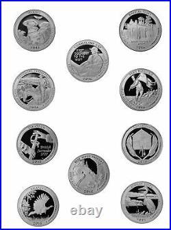 2009 2018 S Parks Quarter ATP Proof Roll Cameo 90% Silver 40 US Coins Random Mix
