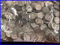 200 Washington 90% silver quarter dollars. $50 face value (Lot #15) 5 ROLLS