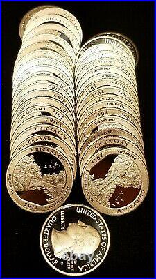 2011-S Chickasaw Silver Proof Quarter roll 40 coins in tube GEM $10 Face Value