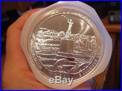 2011 Silver 5 oz ATB Gettysburg NP Pennsylvania Roll (10 Coin) 50 oz