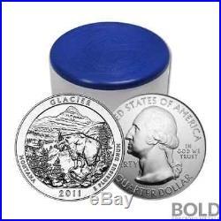 2011 Silver 5 oz Coin ATB Glacier NP Montana Roll (10 Coins)