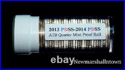2013 2014 P+D+S+S ATB National Parks Mint + Silver + Clad Proof Roll Set of 40