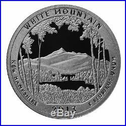 2013 S Parks Quarter ATB Proof Roll Gem Deep Cameo 90% Silver 40 US Coins