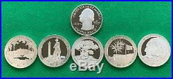 2013-S Silver Proof ATB Quarter 40 Coin Roll 8 Coin for each Park