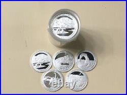 2014 S Silver Quarter Assorted Roll (40) Gem Proof Mirror-like Silver Quarters