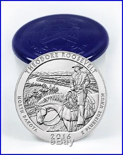 2016 25c 5 oz. Silver America Beautiful Theodore Roosevelt Roll of 10 SKU42423
