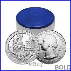 2017 Silver 5 oz Coin ATB Ellis Island National Monument New Jersey Roll 10