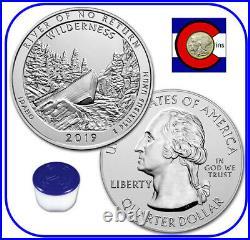 2019 Frank Church No Return Wilderness 5oz Silver ATB Roll/Tube of 10 Coins