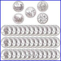 2019 S Parks Quarter Roll ATB 99.9% Silver Gem Deep Cameo Proof 40 Coins