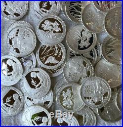 2020 S Silver Quarter Roll (40) 99.9% Silver Coins No Somoa