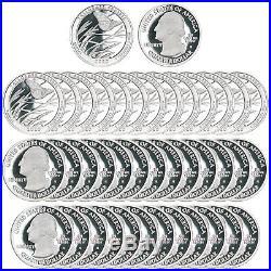 2020 S Tallgrass Prairie Park Quarter Roll ATB 99.9% Silver Proof 40 Coins