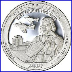 2021 S Tuskegee Airmen Historic Site Quarter Roll ATB 99.9% Silver Proof 40 Coin