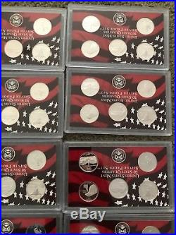 (20) 2007 SILVER STATE QUARTER PROOF SET no box/COA Half Rolls 100 Total Coins
