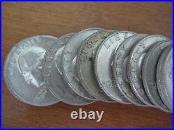 (2) Rolls 90% Silver Washington BU Quarters 1964-P and 1964-D XF-AU