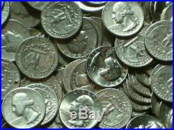 2 Rolls Silver Washington Quarters 80 Coins $20 Face Mixed Dates Ave-Un Circ #3