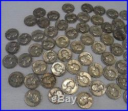 2 Rolls of Washington Silver Quarters 90% Silver. Mixed Dates