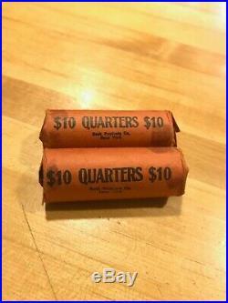 2 rolls silver quarters