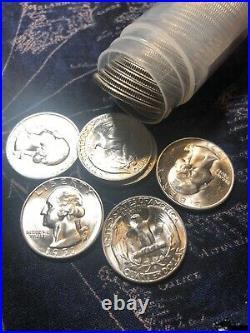 3/4 Roll 1951 S Bu+++ White Luster Silver Washington Quarter 30 Coins 25r51s
