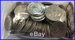 3 full ROLLS, $30 face value 90% silver Washington quarters. 120 coins