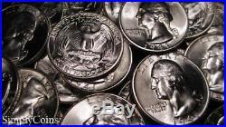(40) 1941 Washington Silver Quarter Roll BU Uncirculated Coin Lot SKU-1591