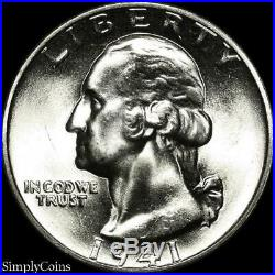 (40) 1941 Washington Silver Quarter Roll BU Uncirculated US Coin Lot