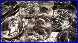 (40) 1943 Washington Silver Quarter Roll BU Uncirculated Coin Lot SKU-1598
