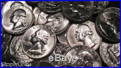 (40) 1946 Washington Silver Quarter Roll BU Uncirculated Coin Lot SKU-1916