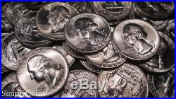 (40) 1948-S Washington Silver Quarter Roll BU Uncirculated Coin Lot SKU-1913