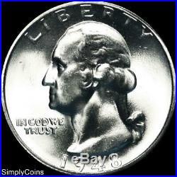 (40) 1948-S Washington Silver Quarter Roll BU Uncirculated US Coin Lot MQ