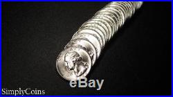 (40) 1948 Washington Silver Quarter Roll BU Uncirculated Coin Lot SKU-1226