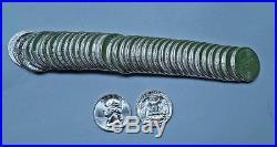 (40) 1949-D Washington Quarter Roll // Gem BU+++ // CRISP DETAIL! (QR106)