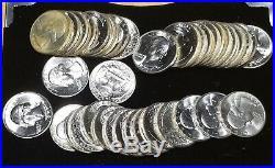 (40) 1951-D Fresh Ch. BU SILVER Washington Quarter Roll - 40 Quarters in Roll