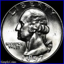 (40) 1952-D Washington Silver Quarter Roll BU Uncirculated US Coin Lot