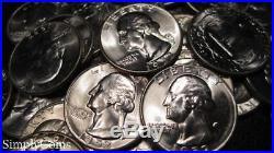 (40) 1952 Washington Silver Quarter Roll BU Uncirculated Coin Lot SKU-1595