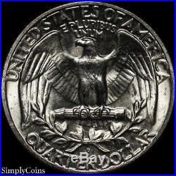 (40) 1953-D Washington Silver Quarter Roll BU Uncirculated US Coin Lot