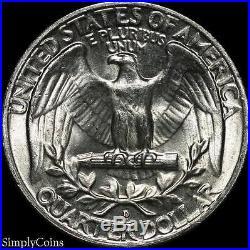 (40) 1954-D Washington Quarter Roll BU Uncirculated 90% Silver US Coin Lot