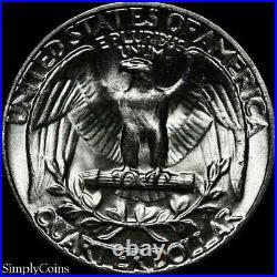 (40) 1954 Washington Silver Quarter Roll BU Uncirculated US Coin Lot MQ
