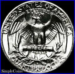 (40) 1955-D Washington Silver Quarter Roll BU Uncirculated US Coin Lot MQ