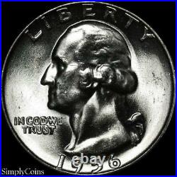 (40) 1956 Washington Silver Quarter Roll BU Uncirculated US Coin Lot MQ