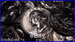 (40) 1957-D Washington Silver Quarter Roll BU Uncirculated Coin Lot SKU-023